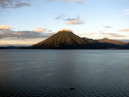 sunrise over atitlán from our balcony