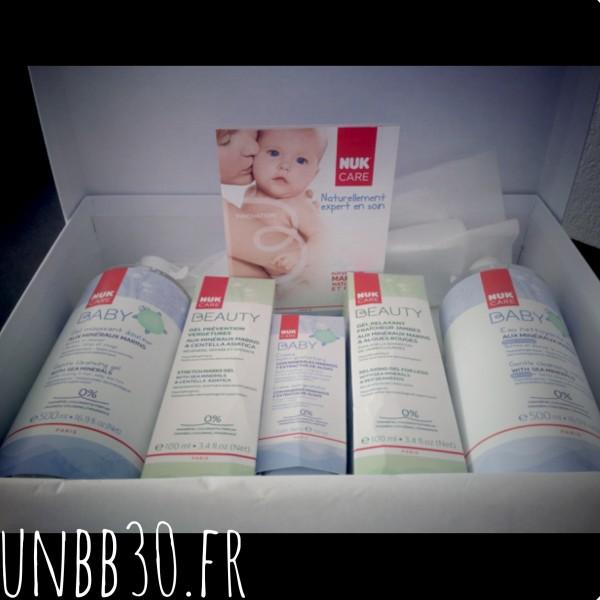 Nuk care box, Nuk, produits de soins pour mamans et bébés