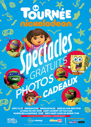 tournée nickelodeon juinior 2013