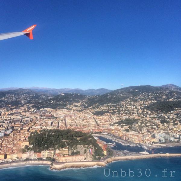 Nice vue d'avion colline du chateau