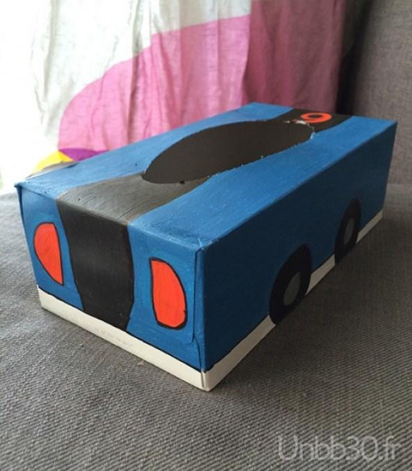 DIY boite à crayon voiture dos