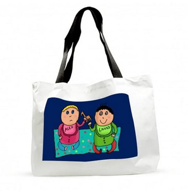 sac de plage personnalisé art by kid