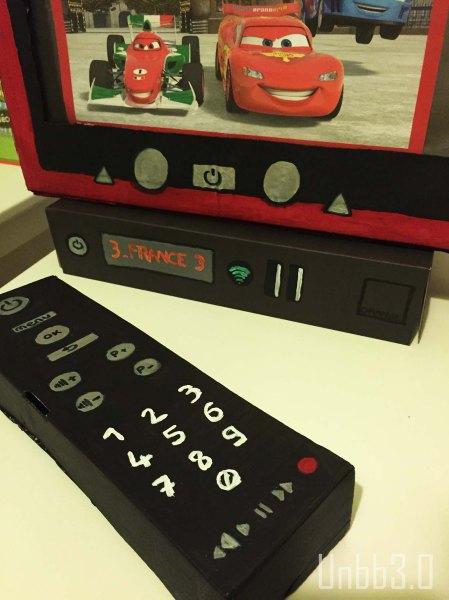 télé box et telecommande en carton