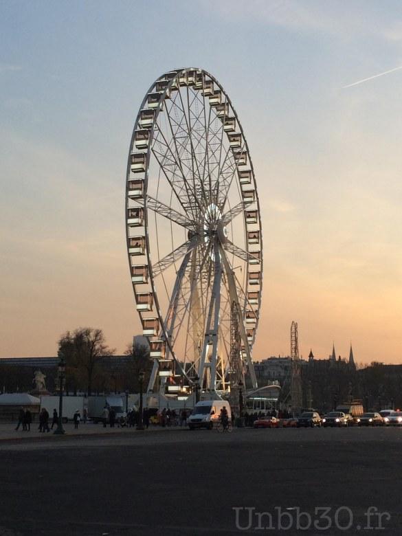 Grande roue Paris Place de la concorde