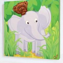 N°31-tableau-enfant-lours-kiwi-léléphant-1