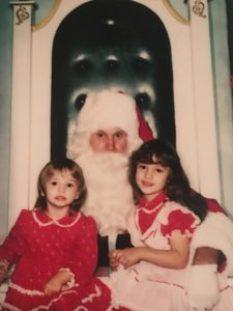Lisa & I with Santa