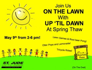 Come join us!  2-6 PM Friday, May 9 on the Oval