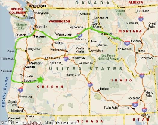 7_Oregon Cascades_Map of NW