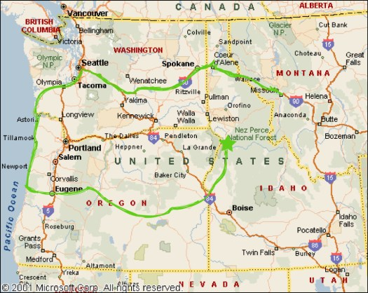 8_Riggins Rafting_Map of NW
