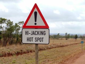 Road sign in South Africa