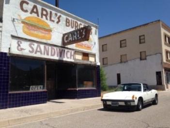 The Porsche En Route to Montana, Photo Taken Somewhere Just North Of Vegas