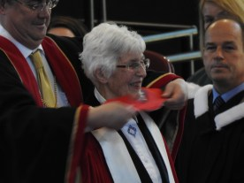 Dr. Mary Young Receiving Her Degree