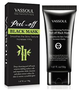 Blackhead Remover Mask, Peel Off Blackhead Mask, Blackhead Remover - Deep Cleansing Black Mask, Bamboo Activated Charcoal Peel-Off Mask by VASSOUL