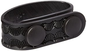 Uncle Mike's Mirage Basketweave Duty Keepers Molded Snap Close Belt (2 1/4-Inch, Black, Set of 4)