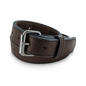 Hanks Extreme - Leather Gun Belt For CCW - Concealed Carry - 17oz. Premium Leather Belt - Made in USA - 100-Year Warranty