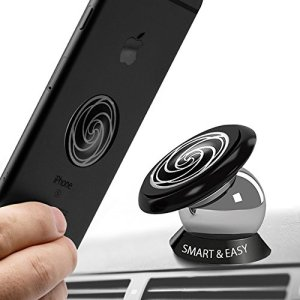 Magnetic Cell Phone Holder for Car -360° Rotation - Ultraslim Magnetic Holder for Dashboard