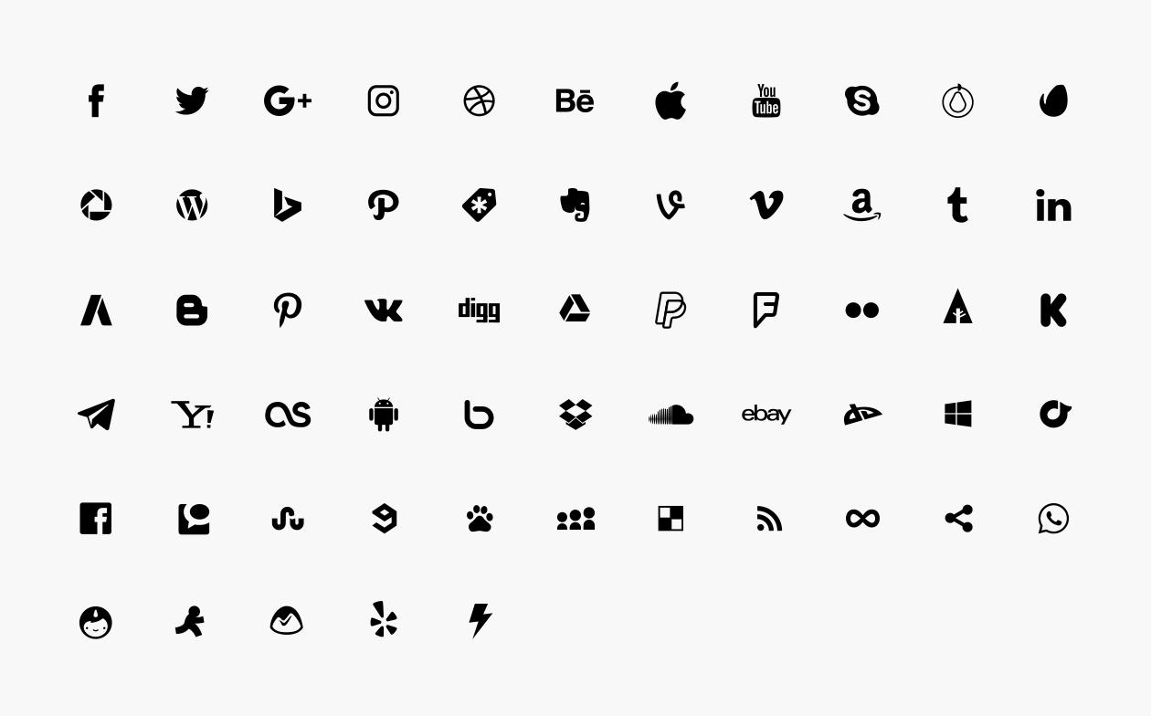 Free Social Media Icons (Vector)