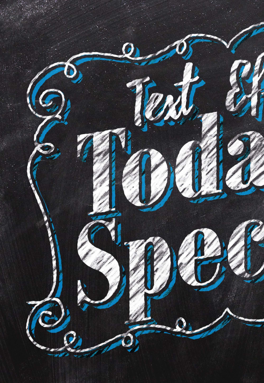 free chalkboard text effect