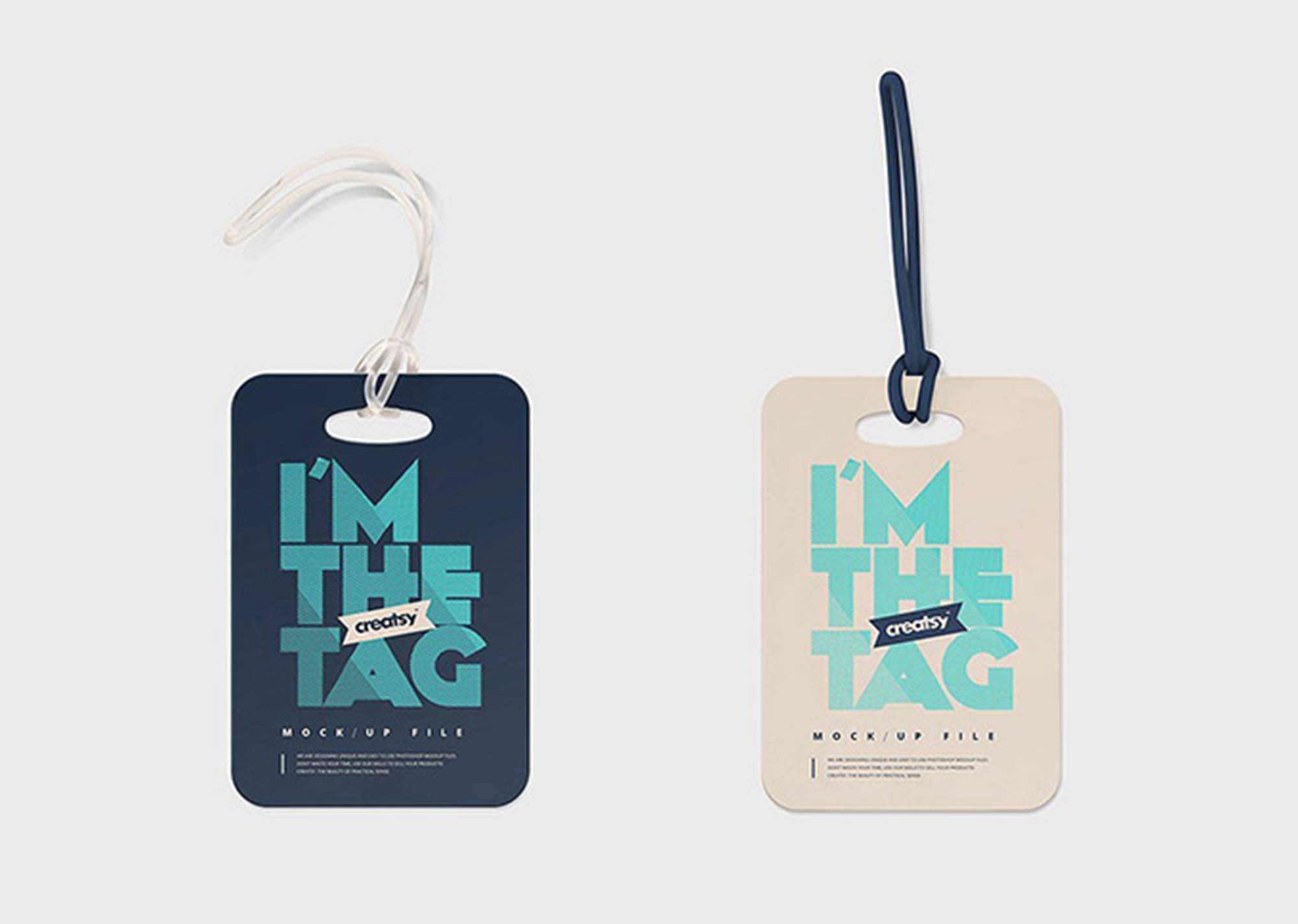 Psd mockup id 13852 in apparel mockups 21. Free Luggage Diaper Tag Mockups Psd