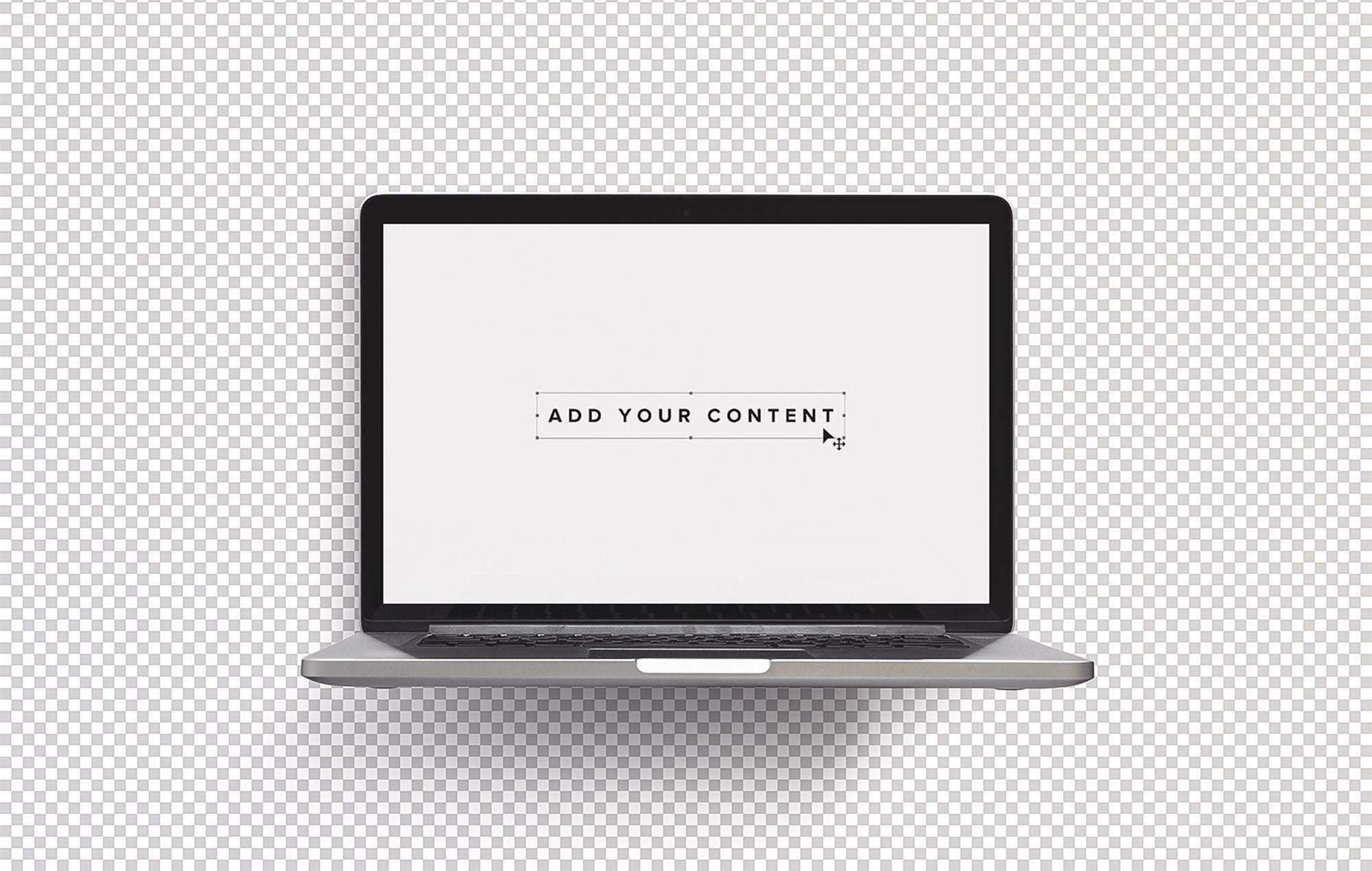 Free Macbook Pro Laptop Mockup (PSD)