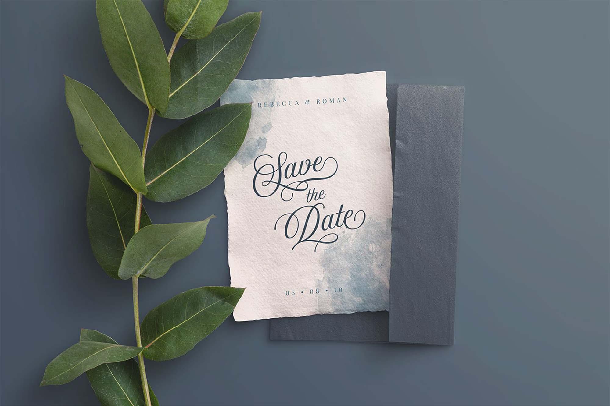 wedding invitation branding mockups