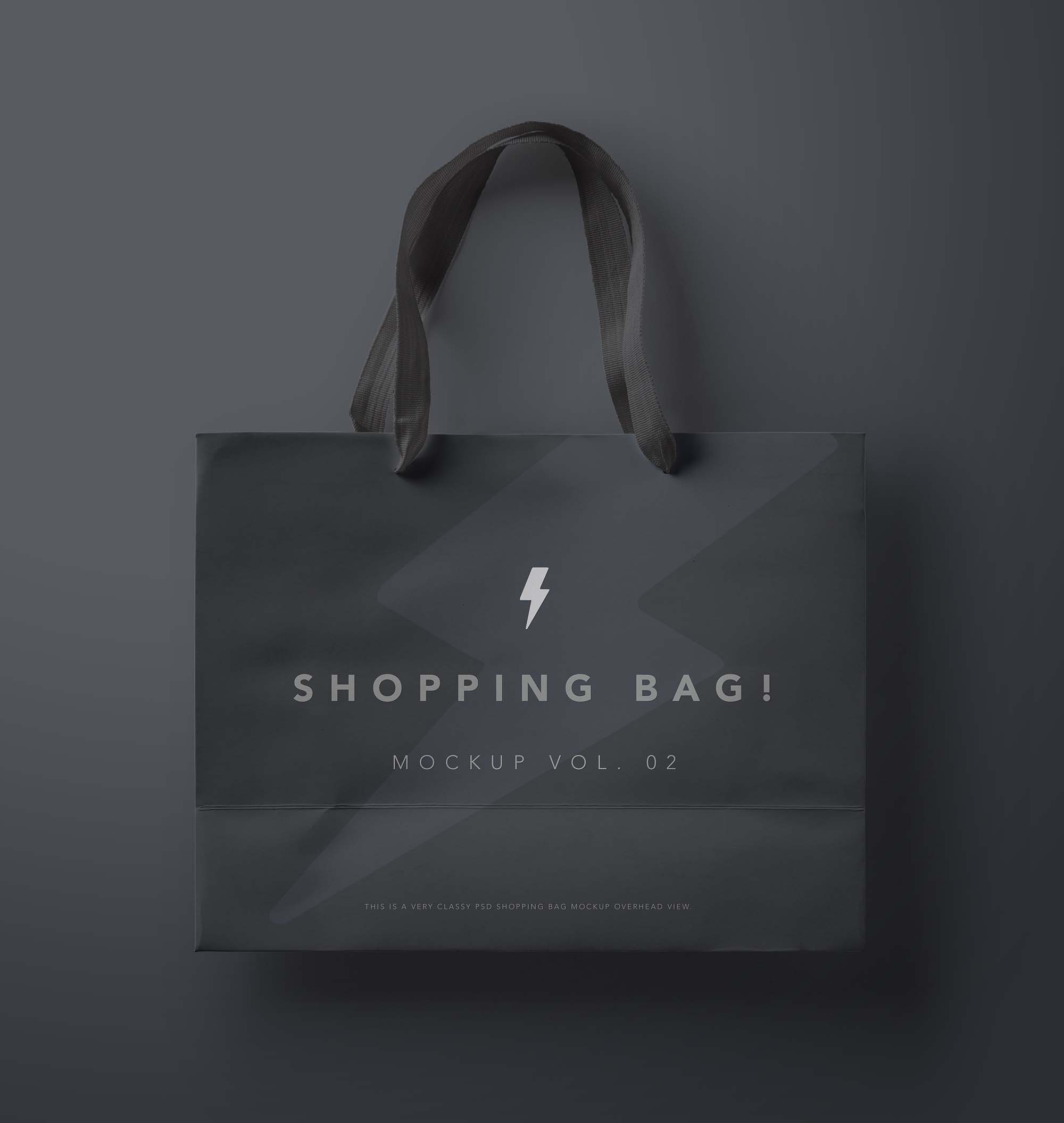 The psd file is fully editable; Free Shopping Bag Mockup Psd