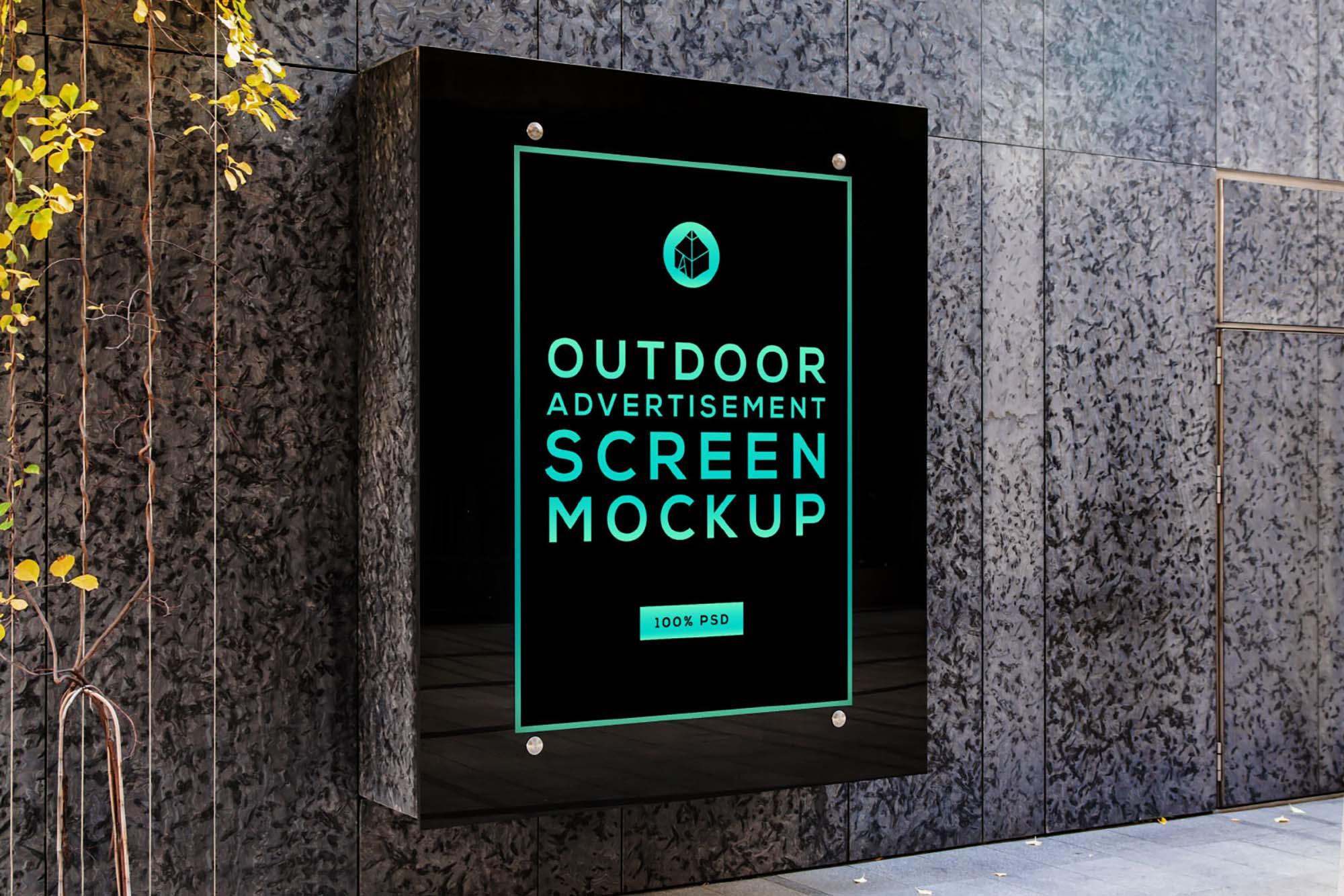 free glass advertising screen