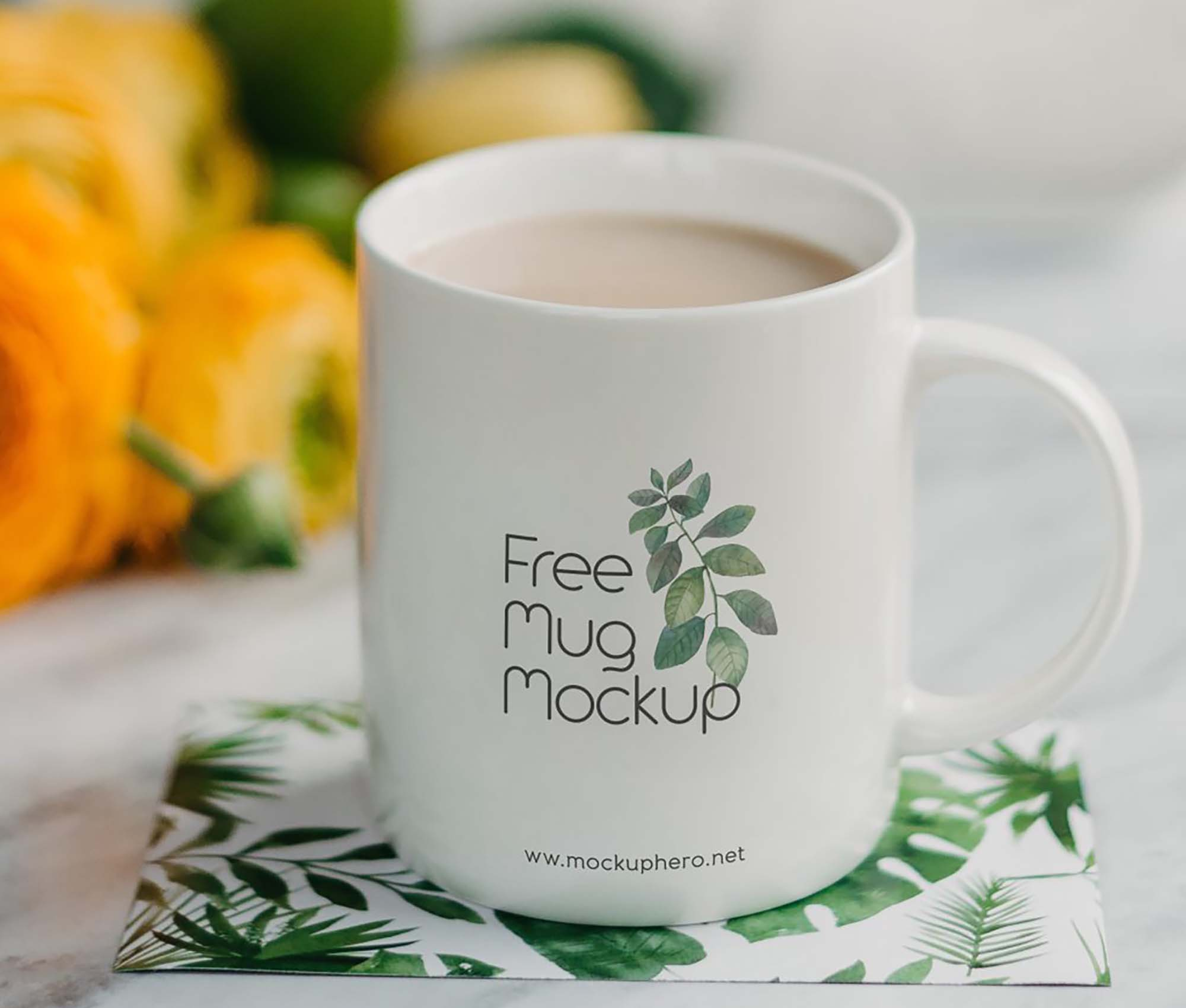 With just a few clicks you will create a coffee cup mockup for yourself. Free Mug Mockup Psd