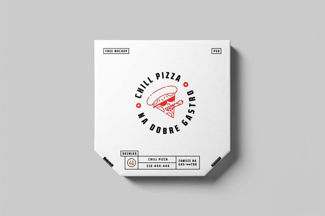 Download Free Pizza Box Mockup (PSD)