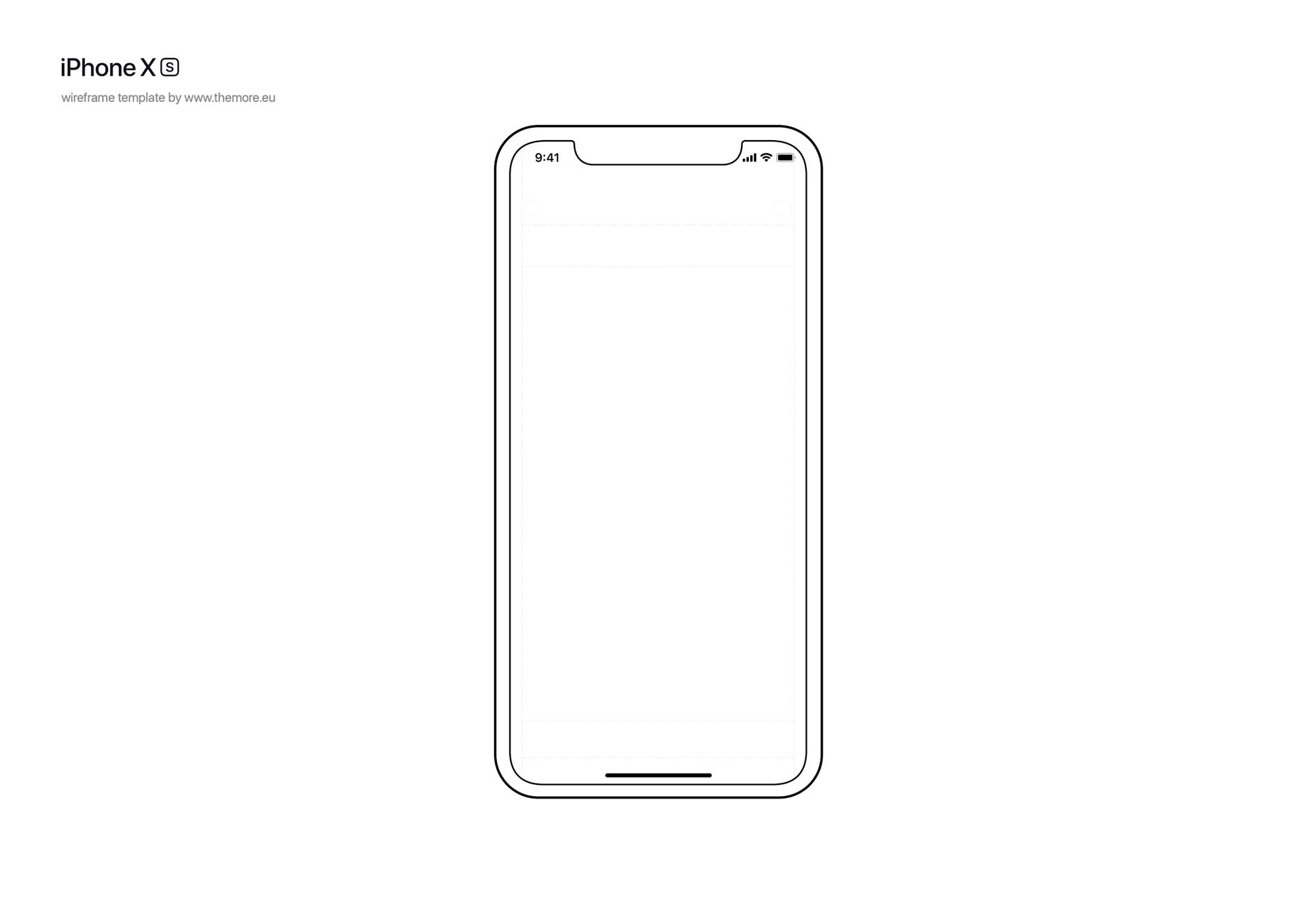 Free iPhone XS Wireframe Template