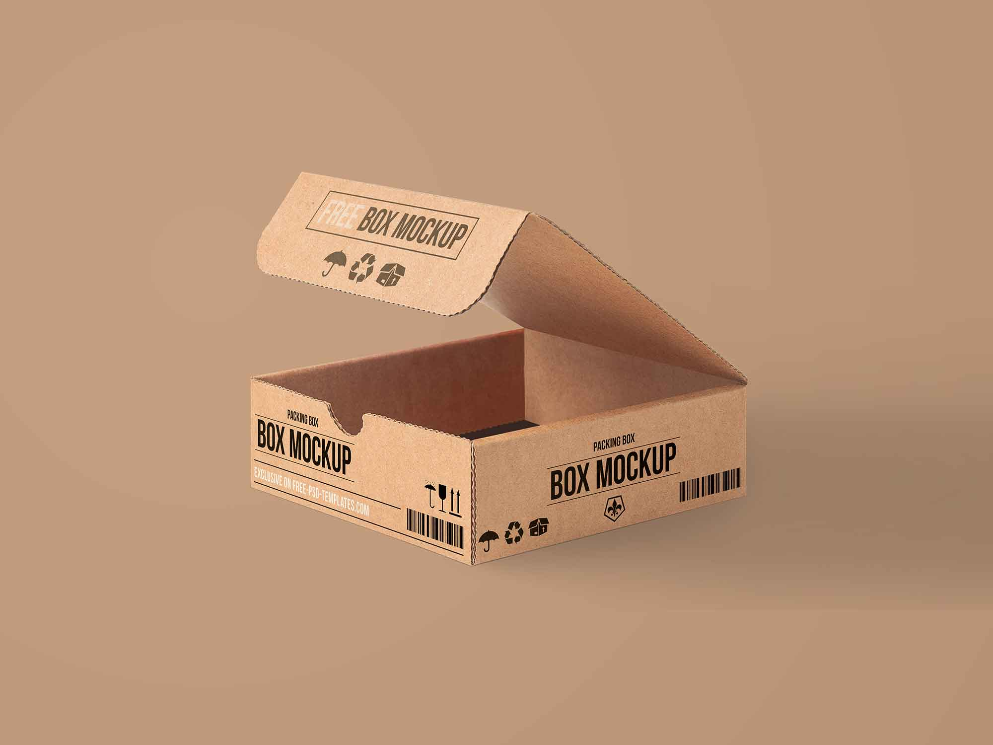 Use this shoe box premium and free mockup with your own design. Free Carton Packaging Box Mockup Psd