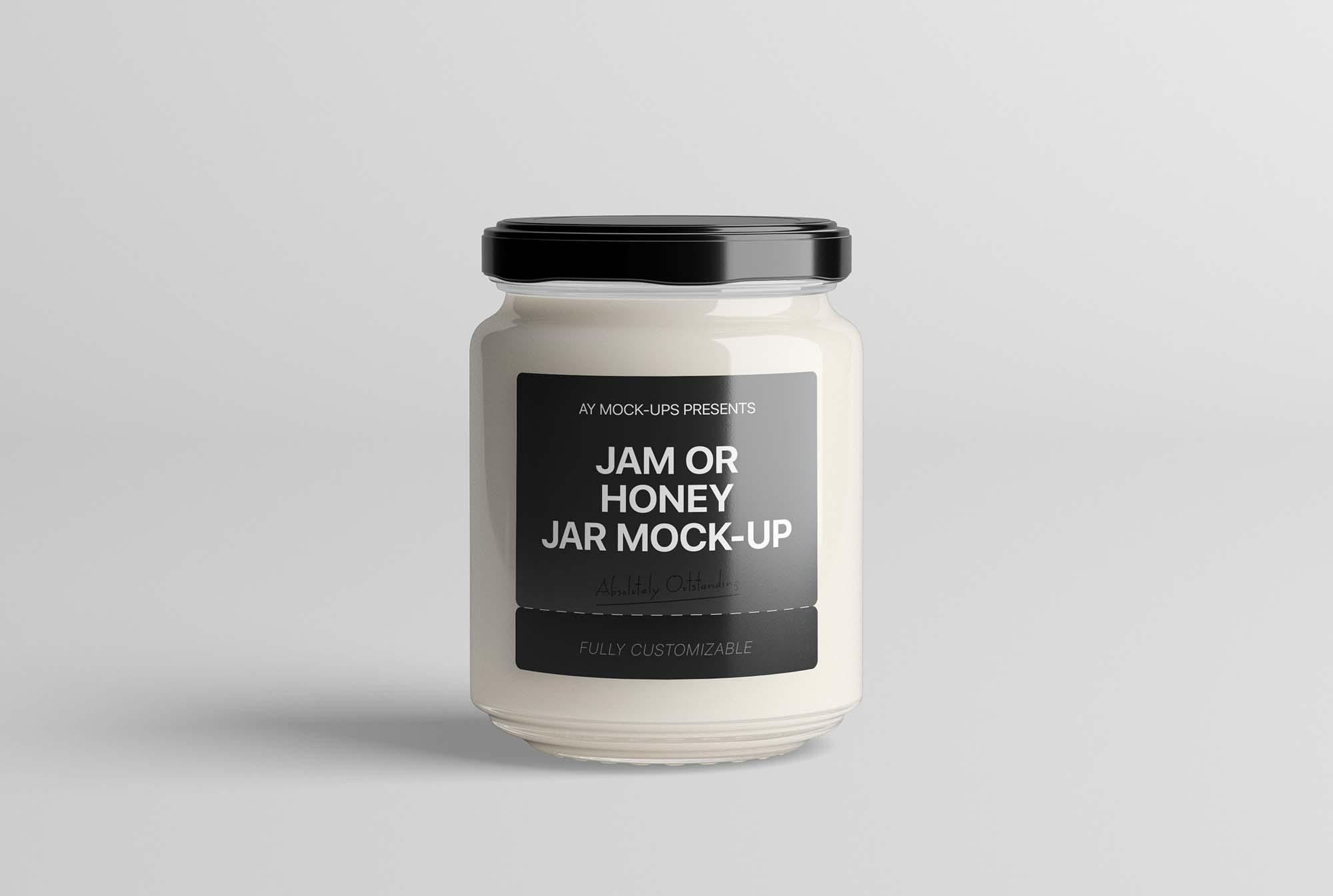 Discover 2 honey jar glass bottle mockup designs on dribbble. Free Jam Jar Mockup Psd