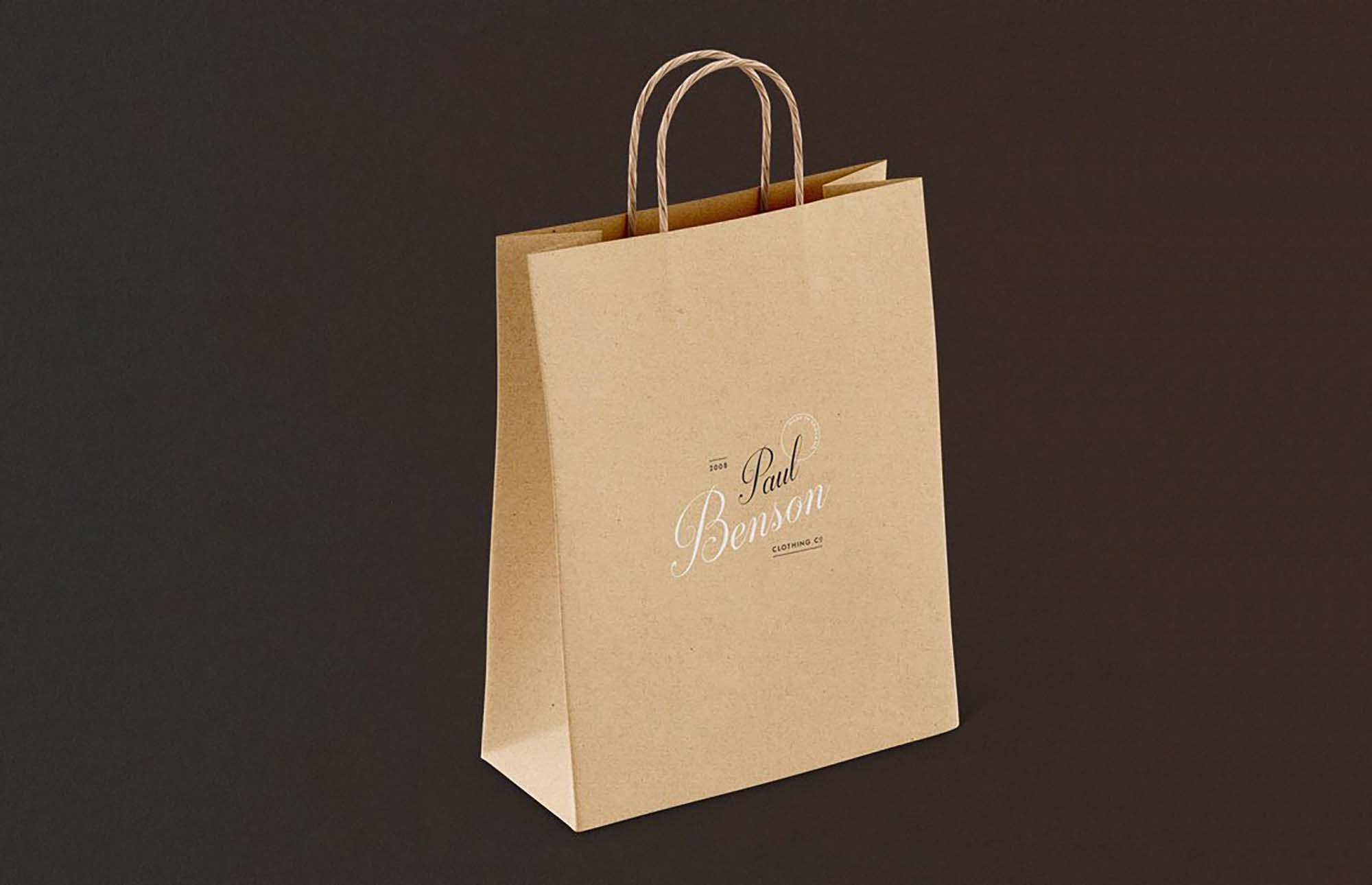 Download universal bag mockup format : Free Paper Bag Mockup Set Psd