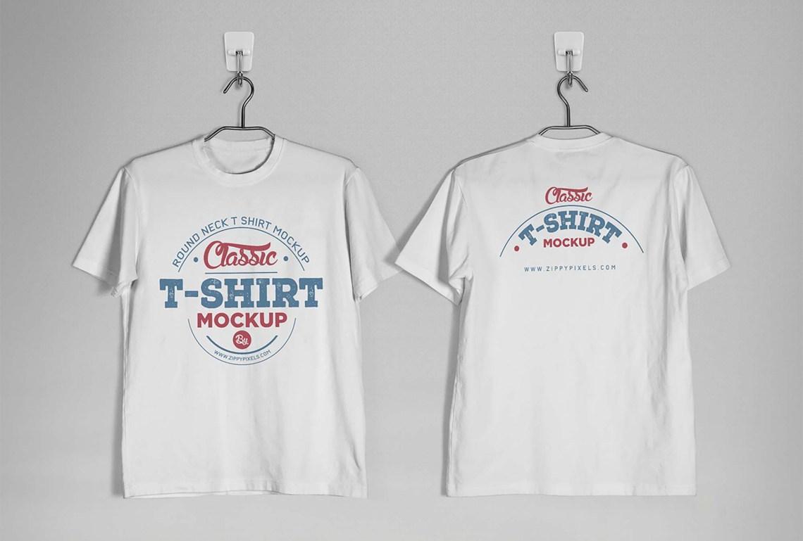 Download Free Vintage Distressed T-Shirt Mockup (PSD)