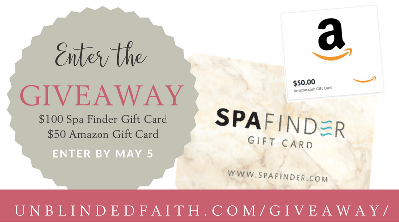 Enter the Giveaway for SpaFinder Gift Card & Amazon Gift Card