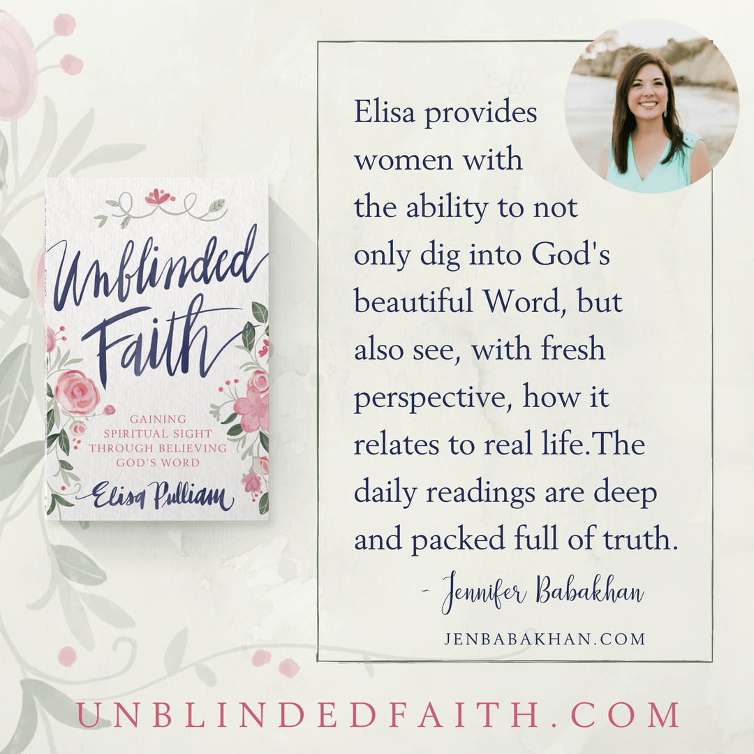 Elisa provides women with the ability to not only dig into God's beautiful Word, but also see, with fresh perspective, how it relates to real life.The daily readings are deep and packed full of truth. - Jen B.