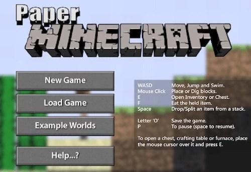 Paper Minecraft - Unblocked Games