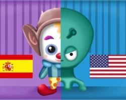 clown vs alien