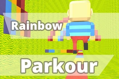 Rainbow Parkour by Kogama