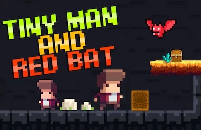 Tiny Man and the Red Bat