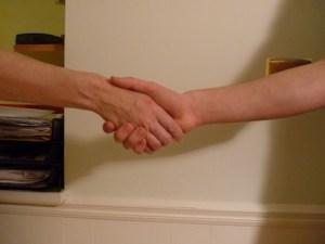 interveiw handshake