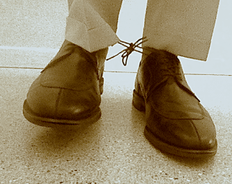 Shoelaces tied together