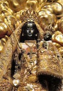 Photo of black madonna from the Einsiedeln Shrine.