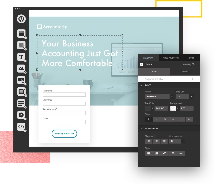 Build landing pages with no coding