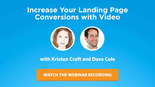 Landing Page Video Webinar