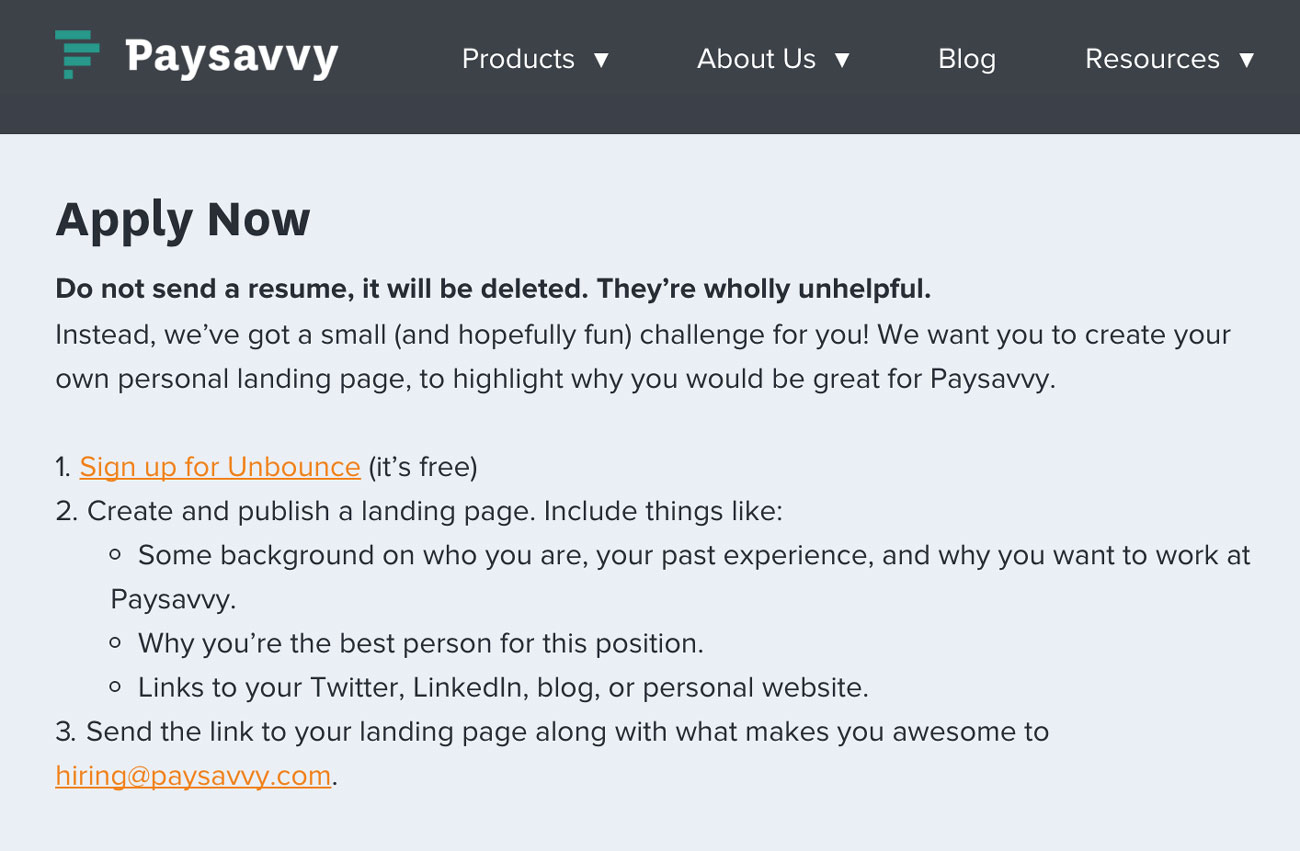 PaySavvy-Apply-Unbounce