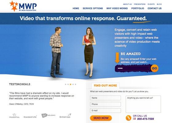 Landing Page Video - Web Presenters
