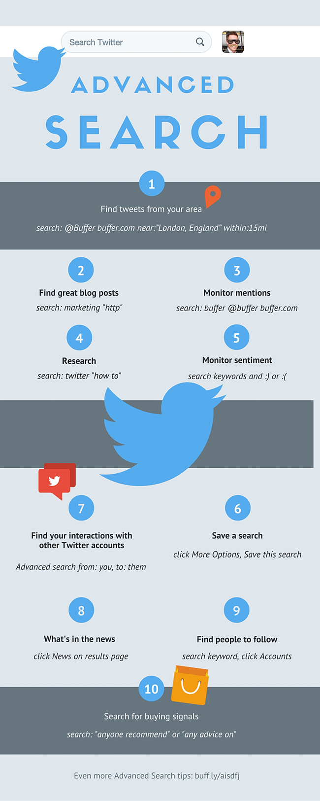 image of advanced search Twitter infographic