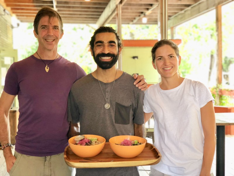 Nelson, Raad and Rachel at ATX Food Company
