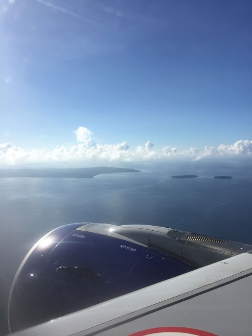 About to Land in Port Blair